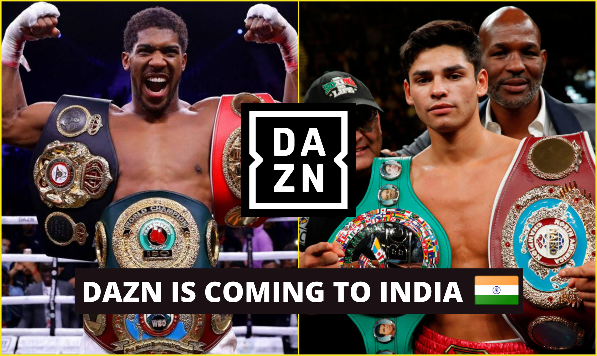 DAZN is finally coming to India, Fans can now watch Anthony Joshua, Ryan Garcia fight LIVE - DAZN