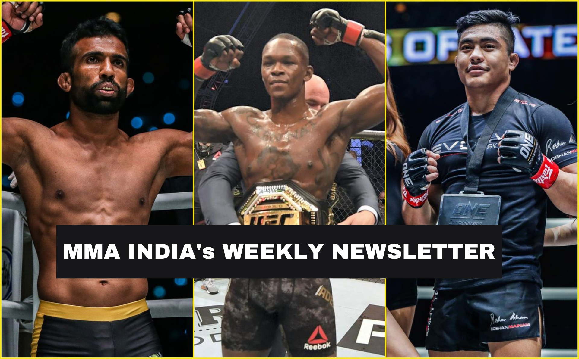 MMA India's Weekly Roundup (29 Sep-5 Oct): Rahul Raju, Roshan Mainam to fight on 9th Oct, UFC 253 sells 700,000 PPV buys - mma