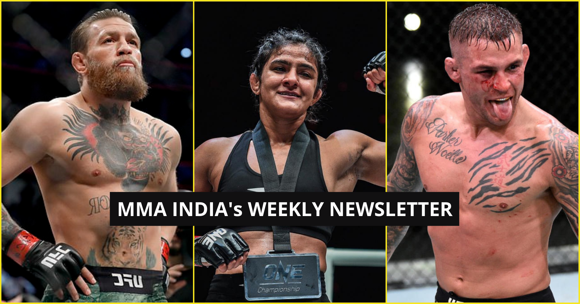 MMA India's Weekly Roundup (12-19 Oct): McGregor vs Poirier at AT&T Stadium, Ritu Phogat to fight on Oct 30 and more - McGregor