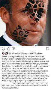 Khabib Nurmagomedov trashes Emmanuel Macron for offending Muslims globally - Emmanuel Macron