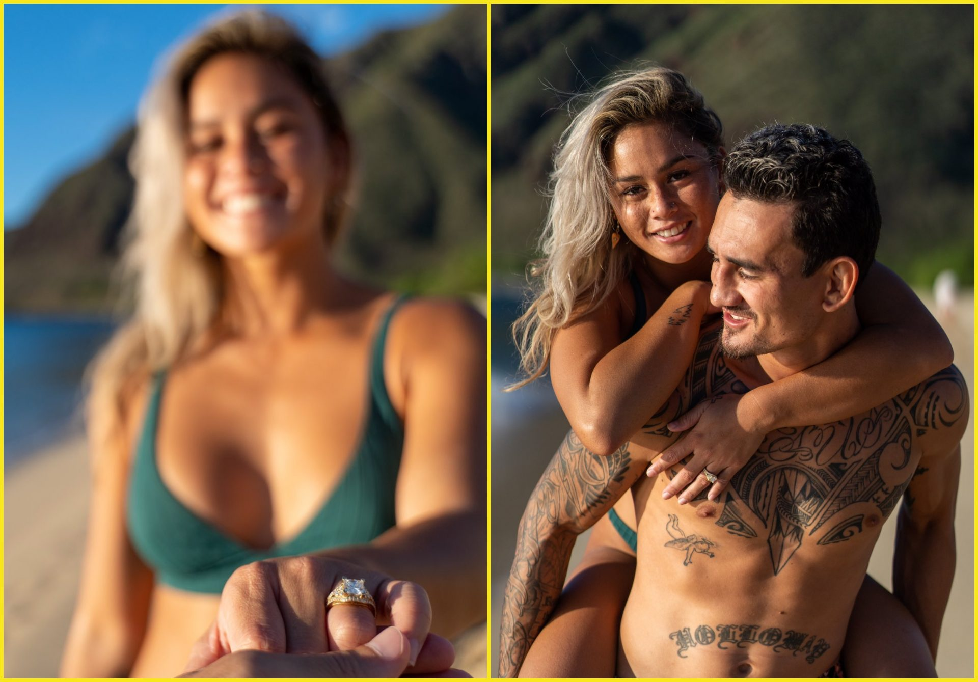 Max Holloway shares photos of his engagement with Pro Surfer Alessa Quizon - Holloway