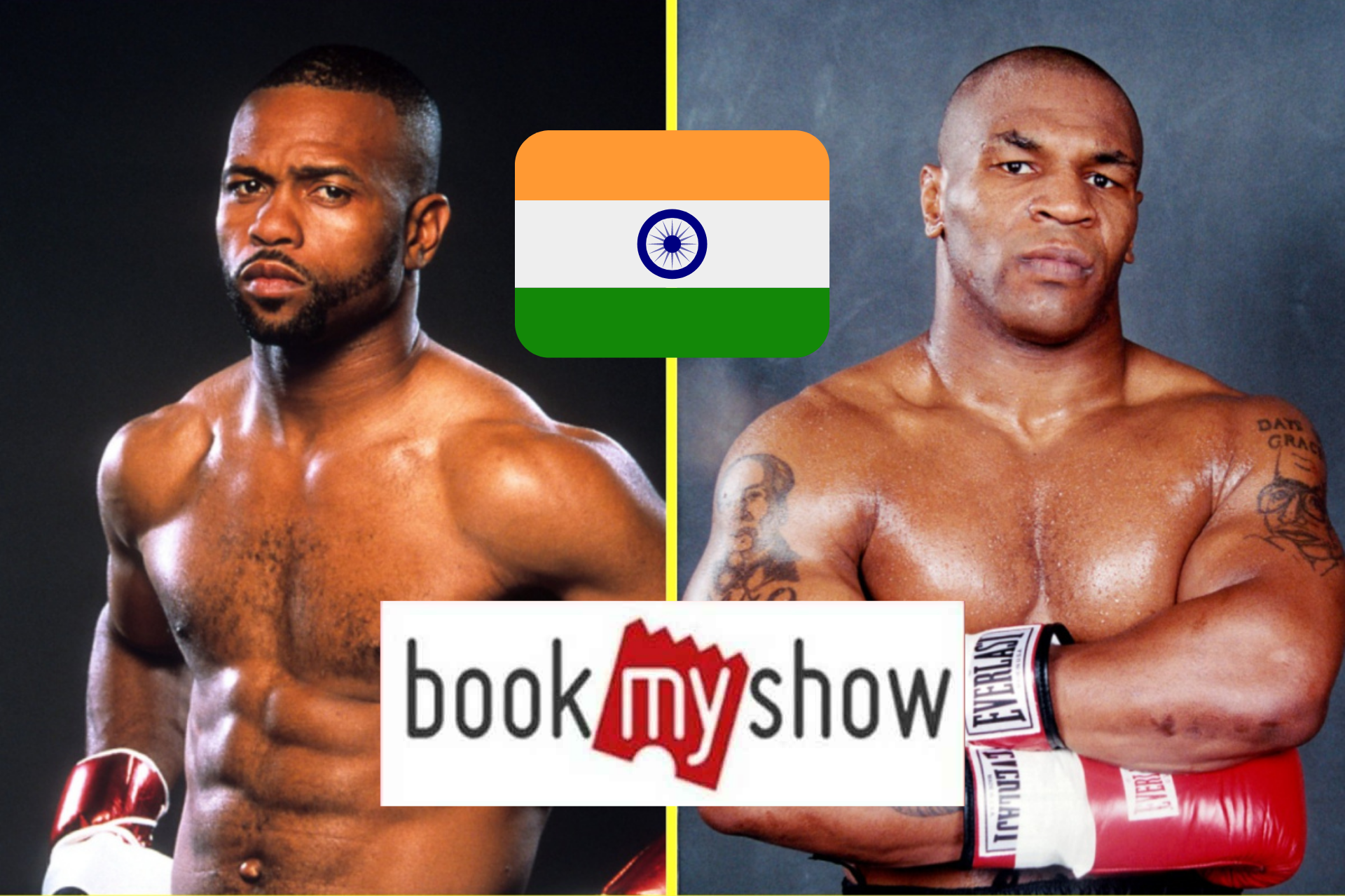 Mike Tyson vs Roy Jones Jr will be available in India on BookMyShow - Tyson