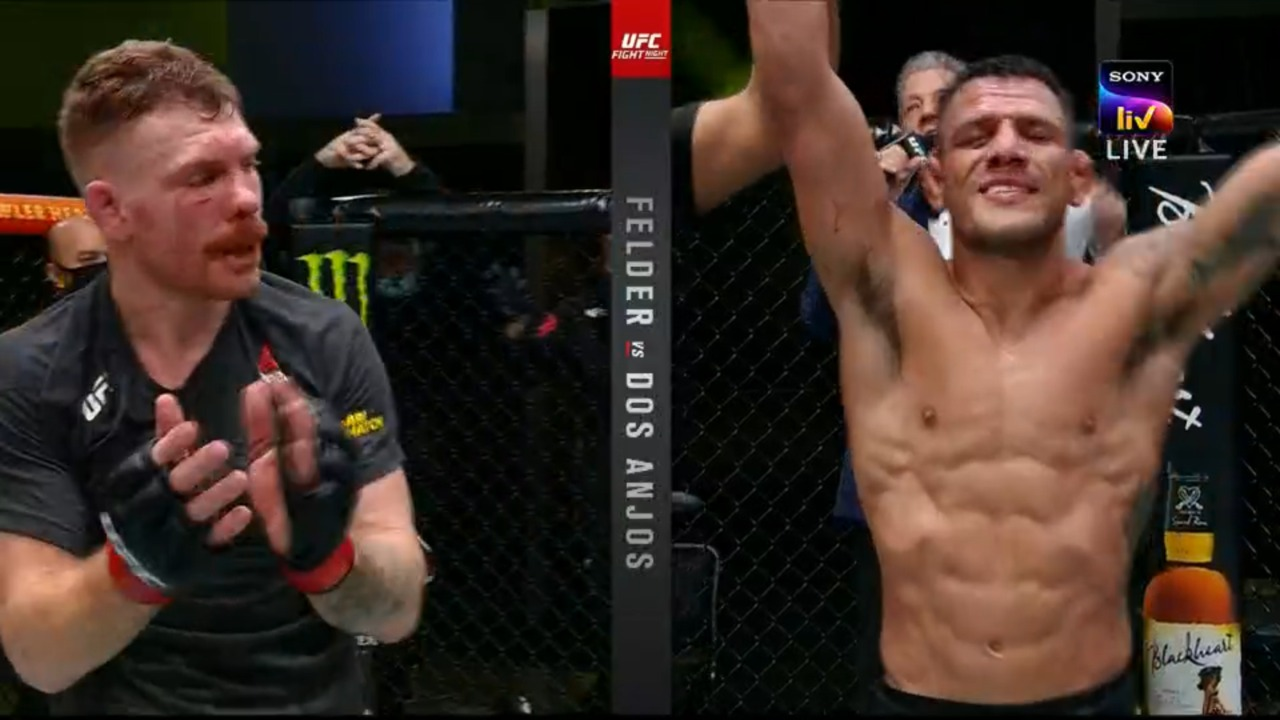 UFC Vegas 14: Dos Anjos defeats Felder via split decision - Felder