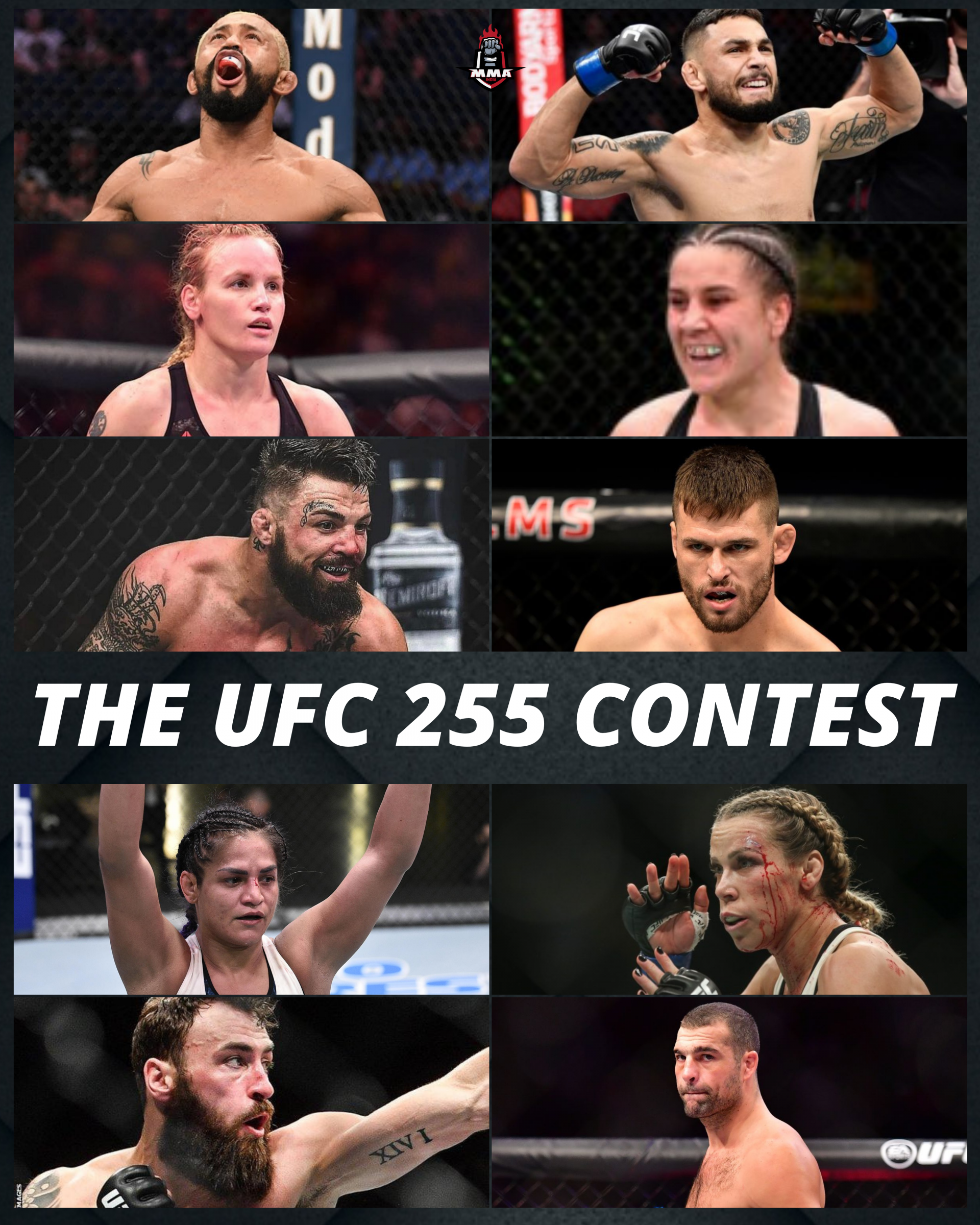 THE UFC 255 CONTEST | MMA INDIA SHOW - UFC 255