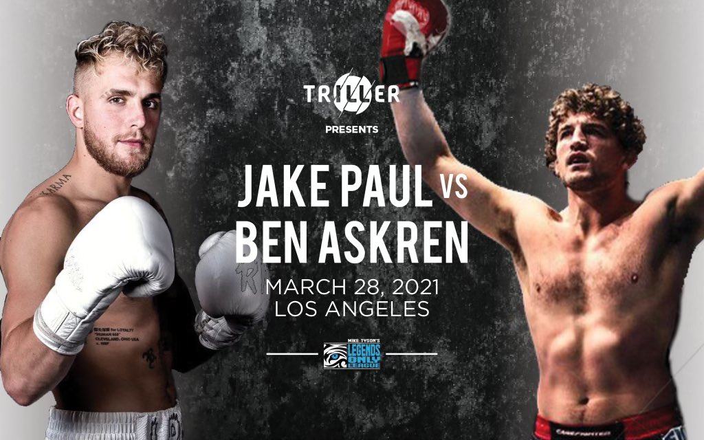 Youtube star Jake Paul is set to fight Ben Askren on March 28 - Ben Askren