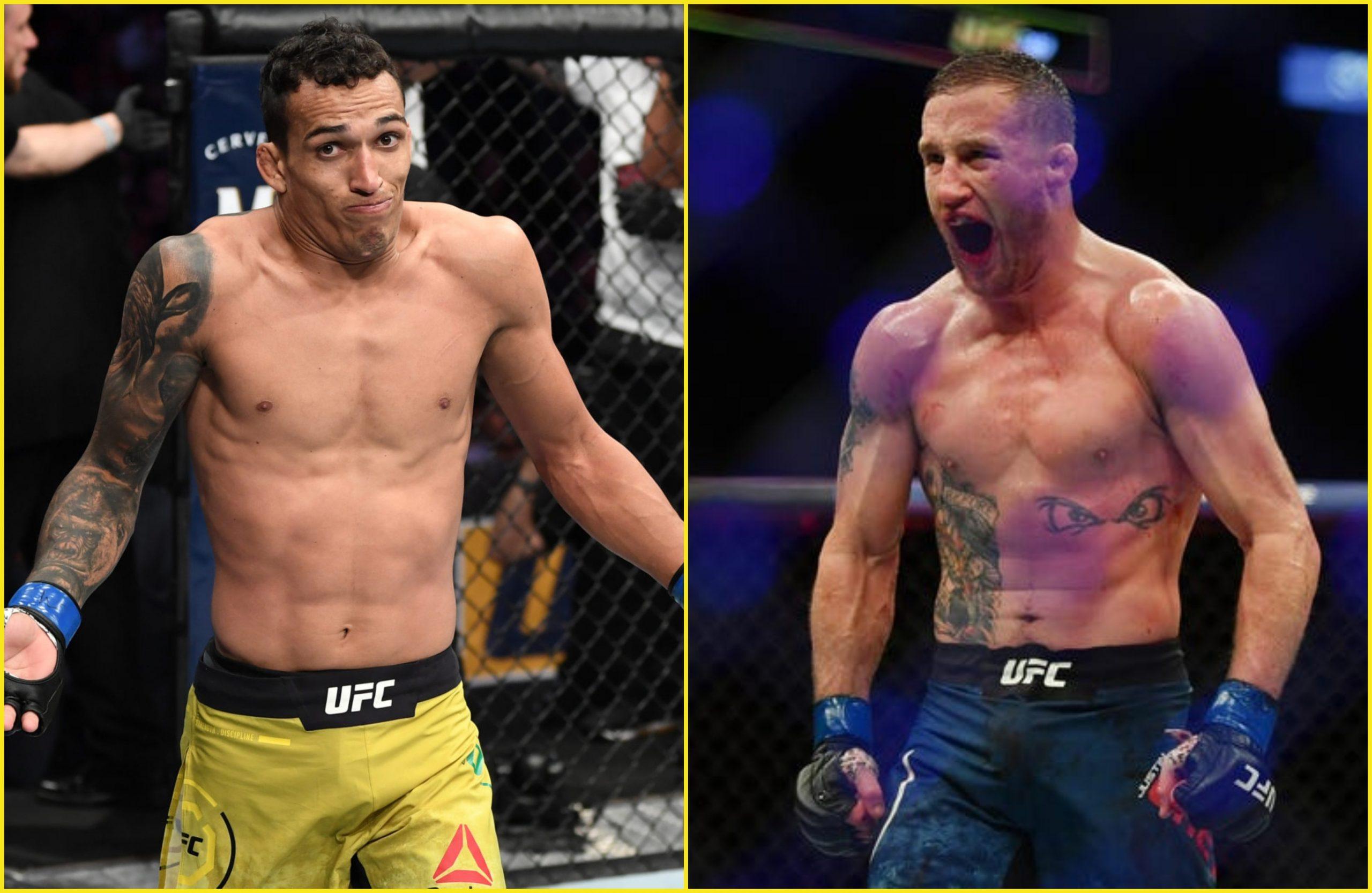 Justin Gaethje vs Charles Oliveira in works per Dana White - MMA INDIA