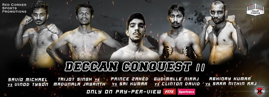 Confident Zahed, Savio ready to return at Club Fights: Deccan Conquest II on Jan 24 - Club Fights