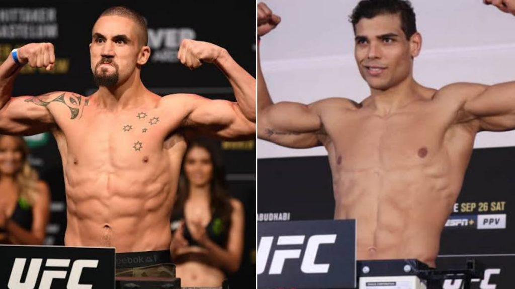 Robert Whittaker vs Paulo Costa set for UFC Fight Night event on April 17 - Robert Whittaker