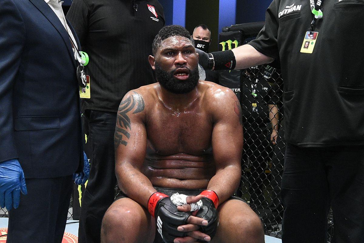 Curtis Blaydes trolled by fan on FaceTime after brutal KO loss to Derrick Lewis - Blaydes