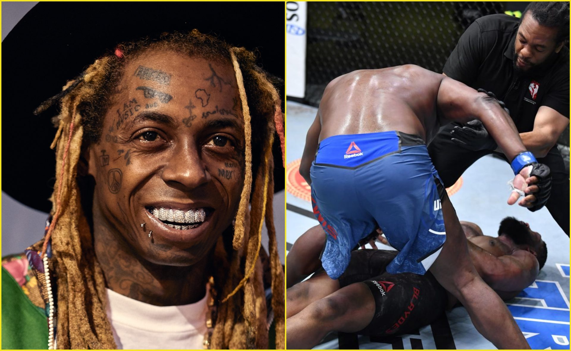 Lil Wayne blown away by Derrick Lewis' brutal KO of Curtis Blaydes at UFC Fight Night 185 - Lewis