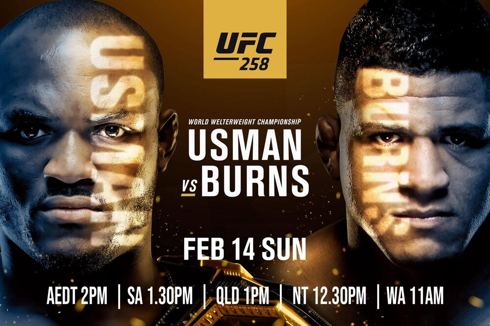 UFC 258 : Kamara Usman vs Gilbert Burns - UFC 258