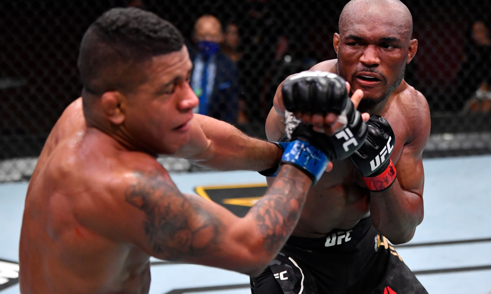 UFC 258: Kamaru Usman TKOs Gilbert Burns in the Third round - UFC
