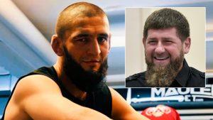 Ramzan Kadyrov with Khamzat Chimaev retirement