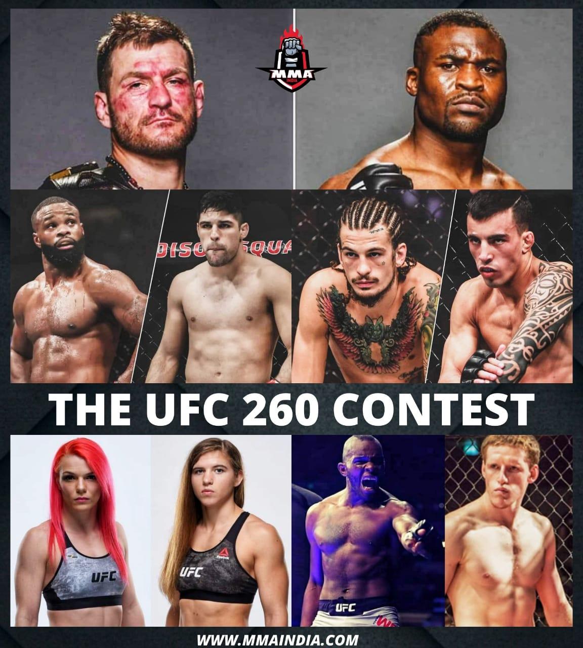 THE UFC 260 CONTEST | MMA INDIA SHOW - UFC 260