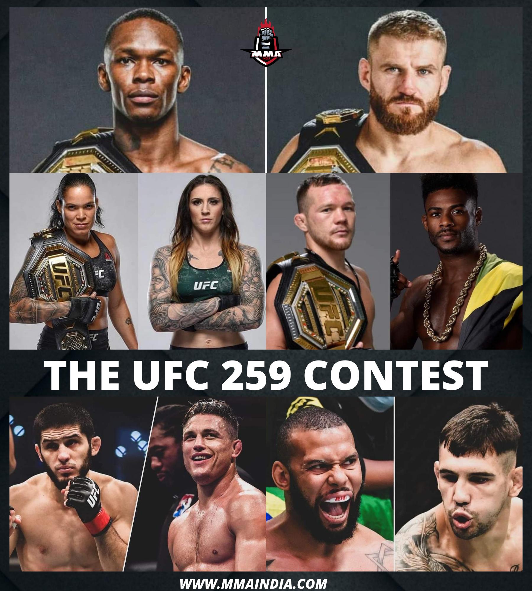 THE UFC 259 CONTEST | MMA INDIA SHOW - UFC 259