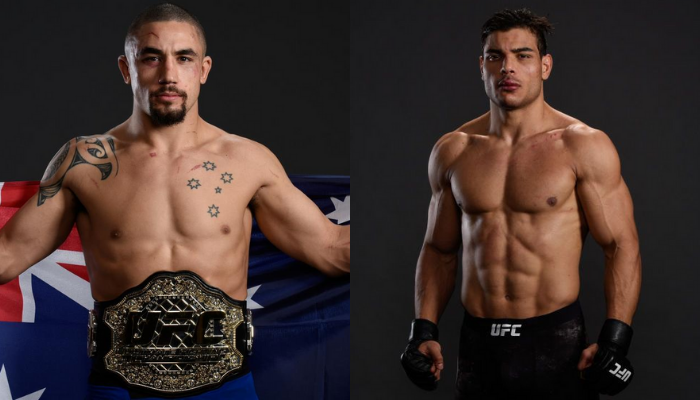 Paulo Costa out of his fight against Robert Whittaker on April 17 - Whittaker