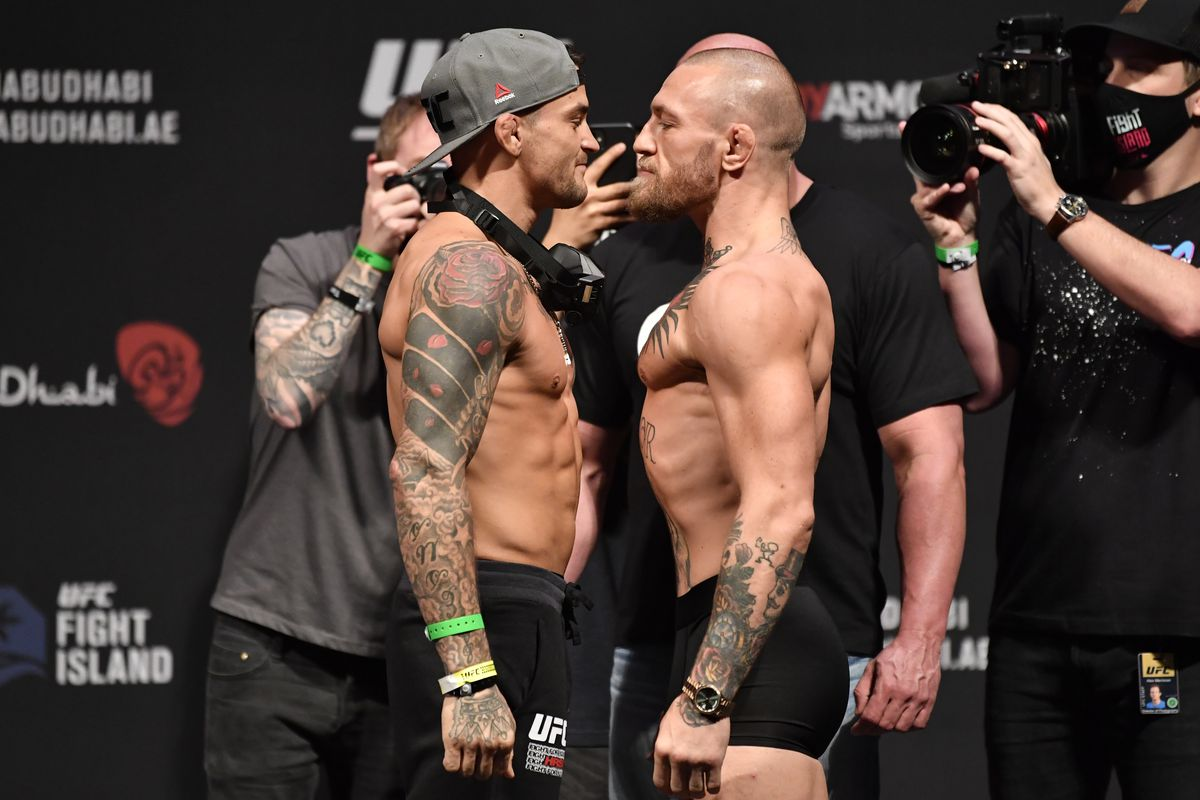 Conor McGregor and Dustin Poirier vow to fight in the middle of the Octagon at UFC 264 - Mcgregor