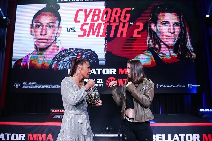 Cris Cyborg to fight Leslie Smith in a rematch at Bellator 259 - Cyborg