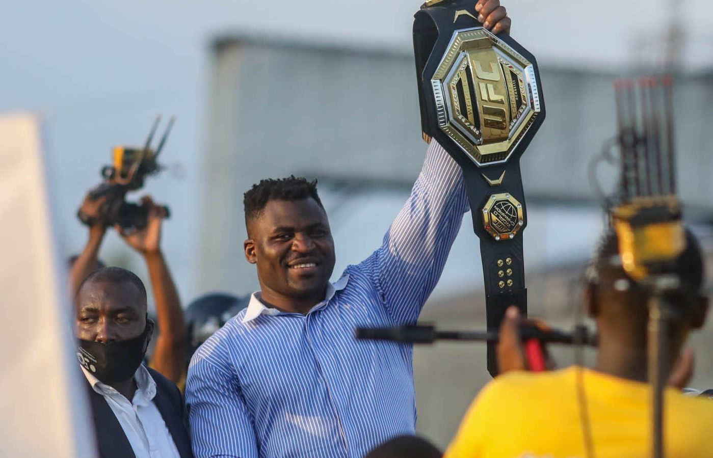 Francis Ngannou gets hero's welcome in Cameroon - Ngannou