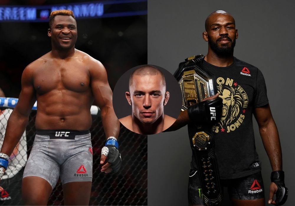 Georges St-Pierre says both Jon Jones and Francis Ngannou are scared to fight each other - St-Pierre