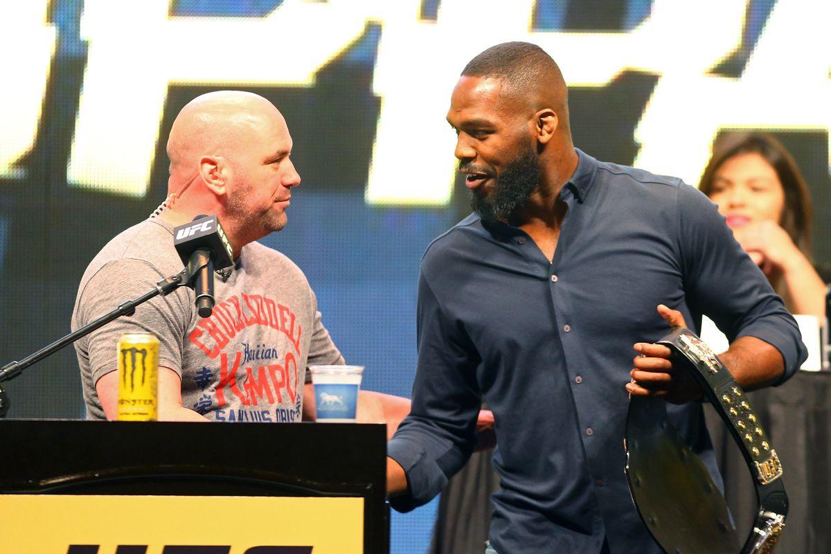Jon Jones reacts to Dana White claims that he wants $30 million to fight Francis Ngannou - Dana
