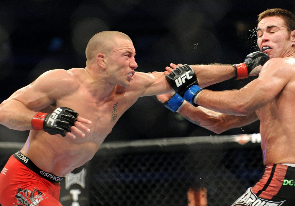 GSP says he was blind for half the fight at UFC 129 against Jake Shields - GSP