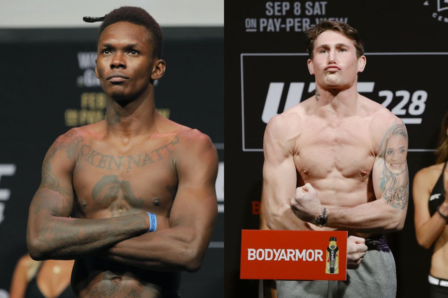 Israel Adesanya reveals why he declined the offer to coach opposite of Darren Till on The Ultimate Fighter - adesanya