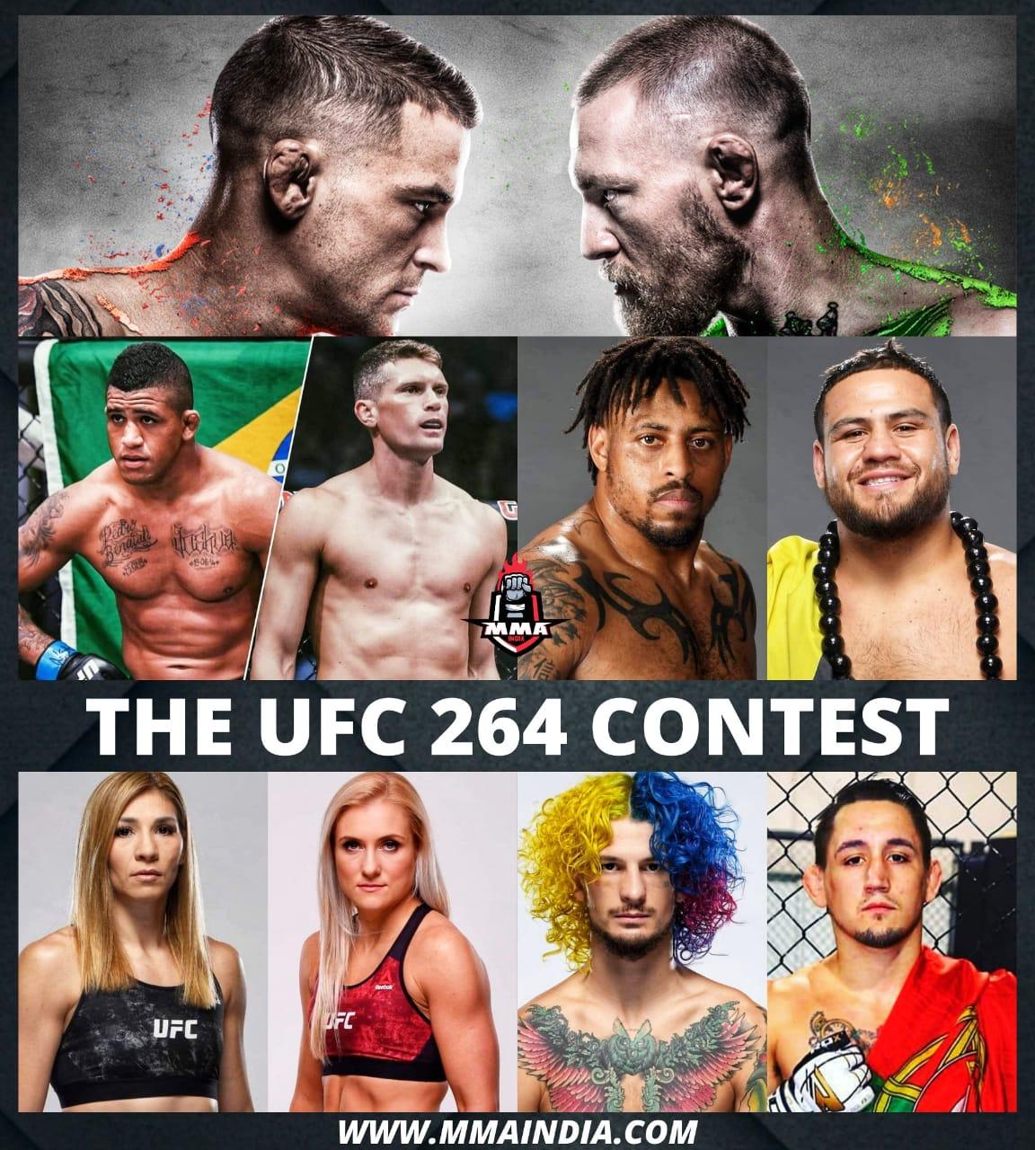 THE UFC 264 CONTEST   MMA INDIA SHOW - UFC 264