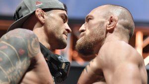 Dustin Poirier vs Conor McGregor at UFC 264
