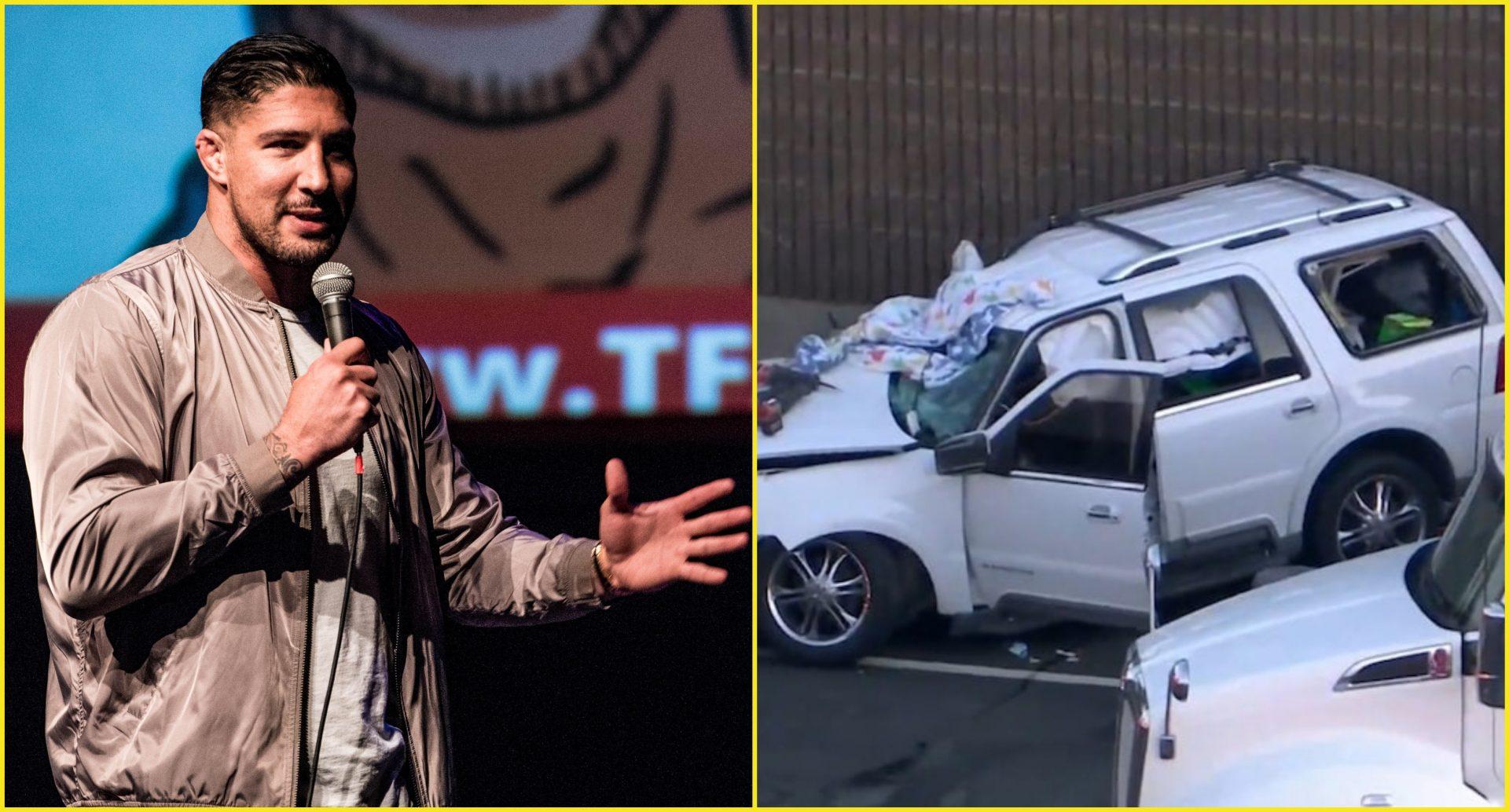 Guardian angel: Former UFC fighter Brendan Schaub saves children from deadly car crash - Schaub