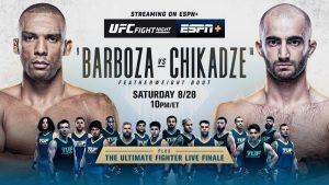 UFC on ESPN 30: Barboza vs Chikadze Betting Odds And Prediction