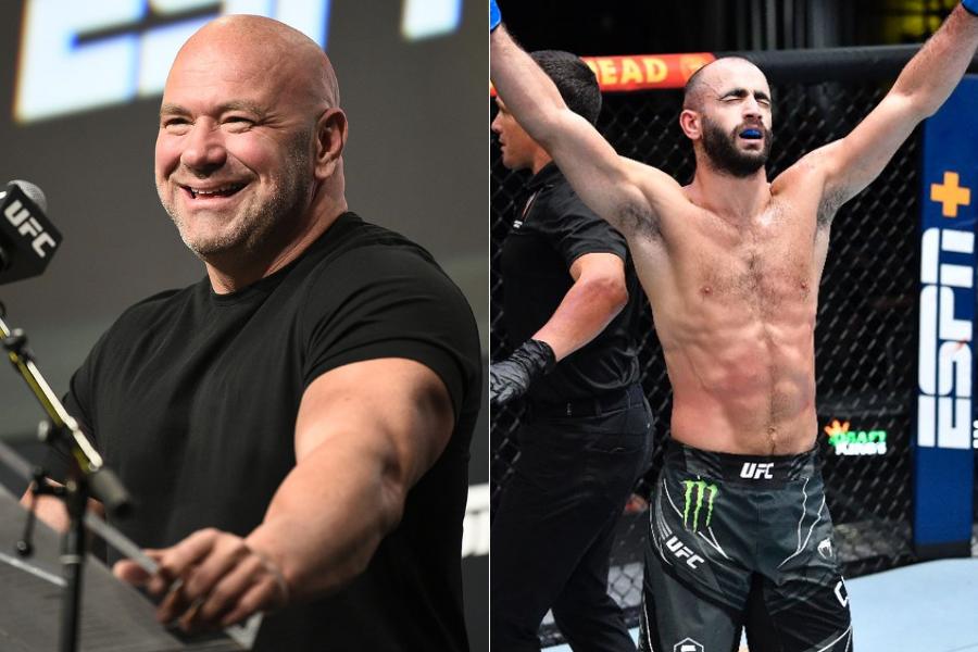 """Dana White calls Giga Chikadze """"Badass"""" after his win over Edson Barboza at UFC on ESPN 30 - giga"""