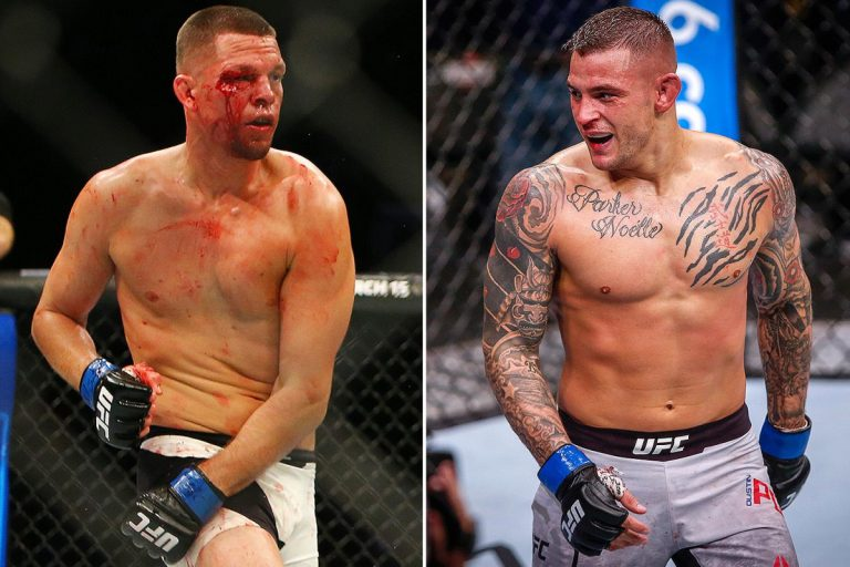 """Nate Diaz responds to callout from Dustin Poirier: """"Let's fight don't be scared this time tho"""""""