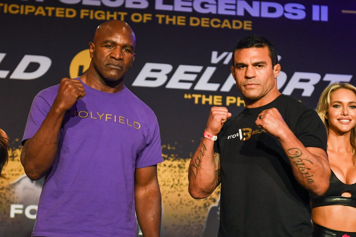 Triller Fight Club: Evander Holyfield vs Vitor Belfort Betting Odds and Prediction - Holyfield