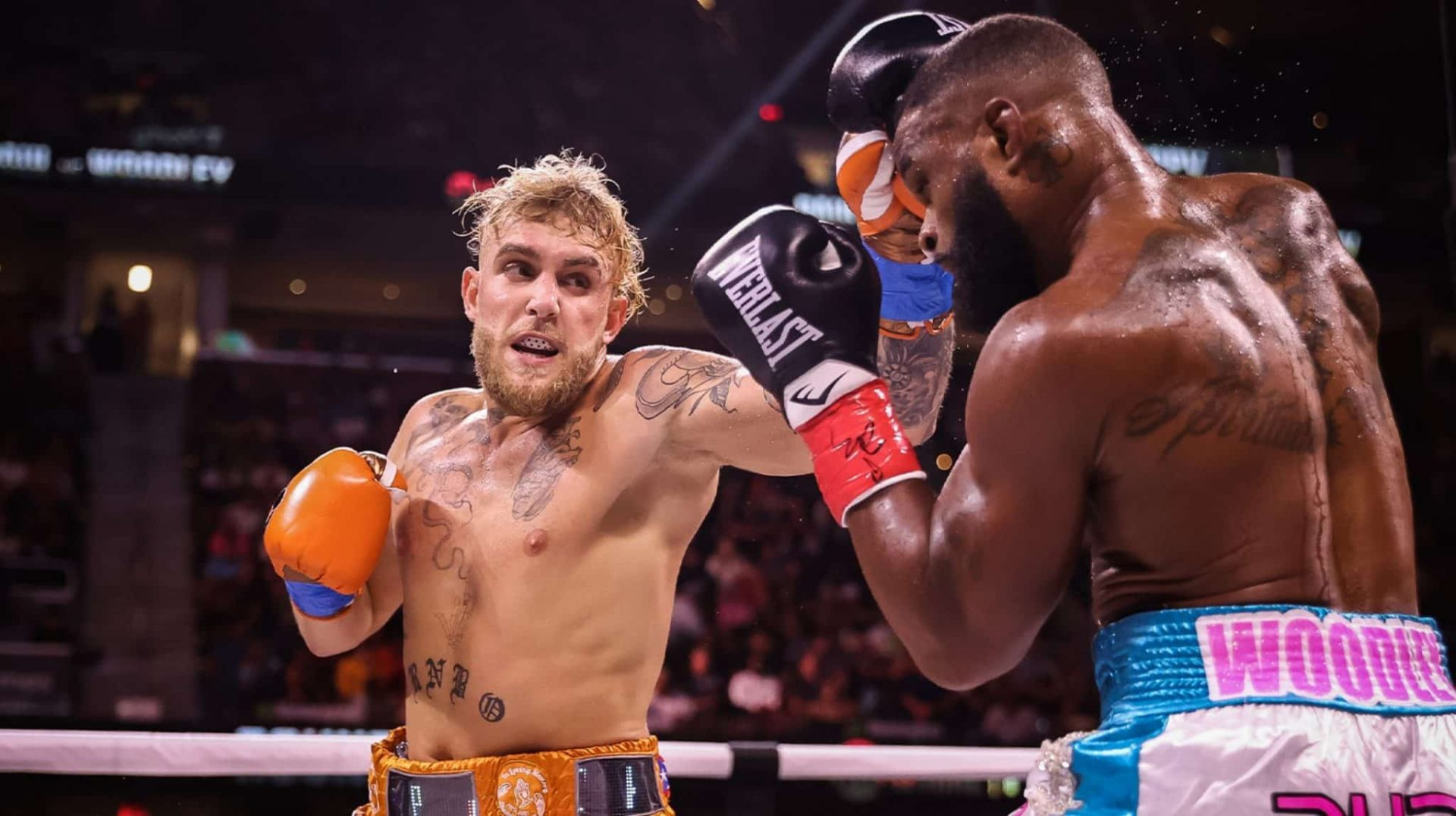 Jake Paul says he fought Tyron Woodley with an Elbow injury - paul