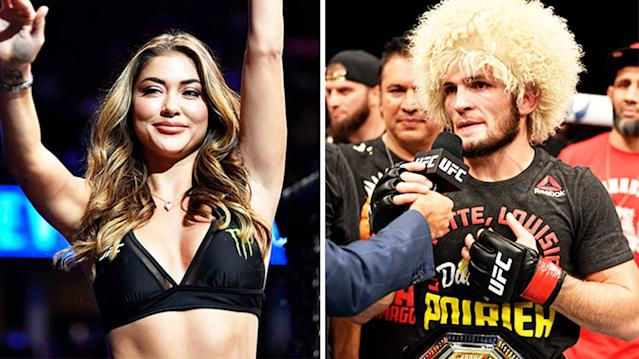 """Arianny Celeste to Khabib Nurmagomedov: """"You don't have to like me, but you will respect me"""" - Khabib"""