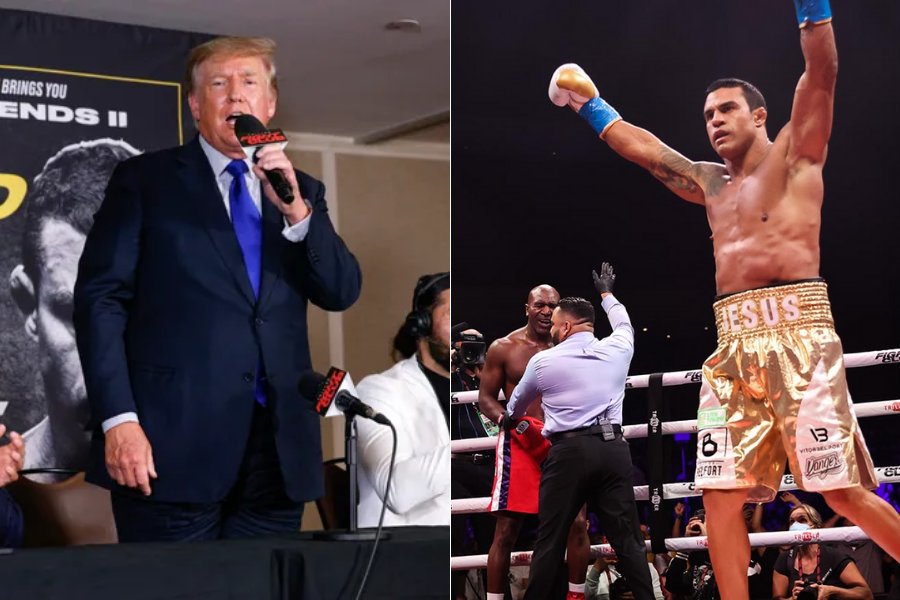 Donald Trump calls Vitor Belfort 'Great Patriot' and congratulates on his victory over Holyfield - trump