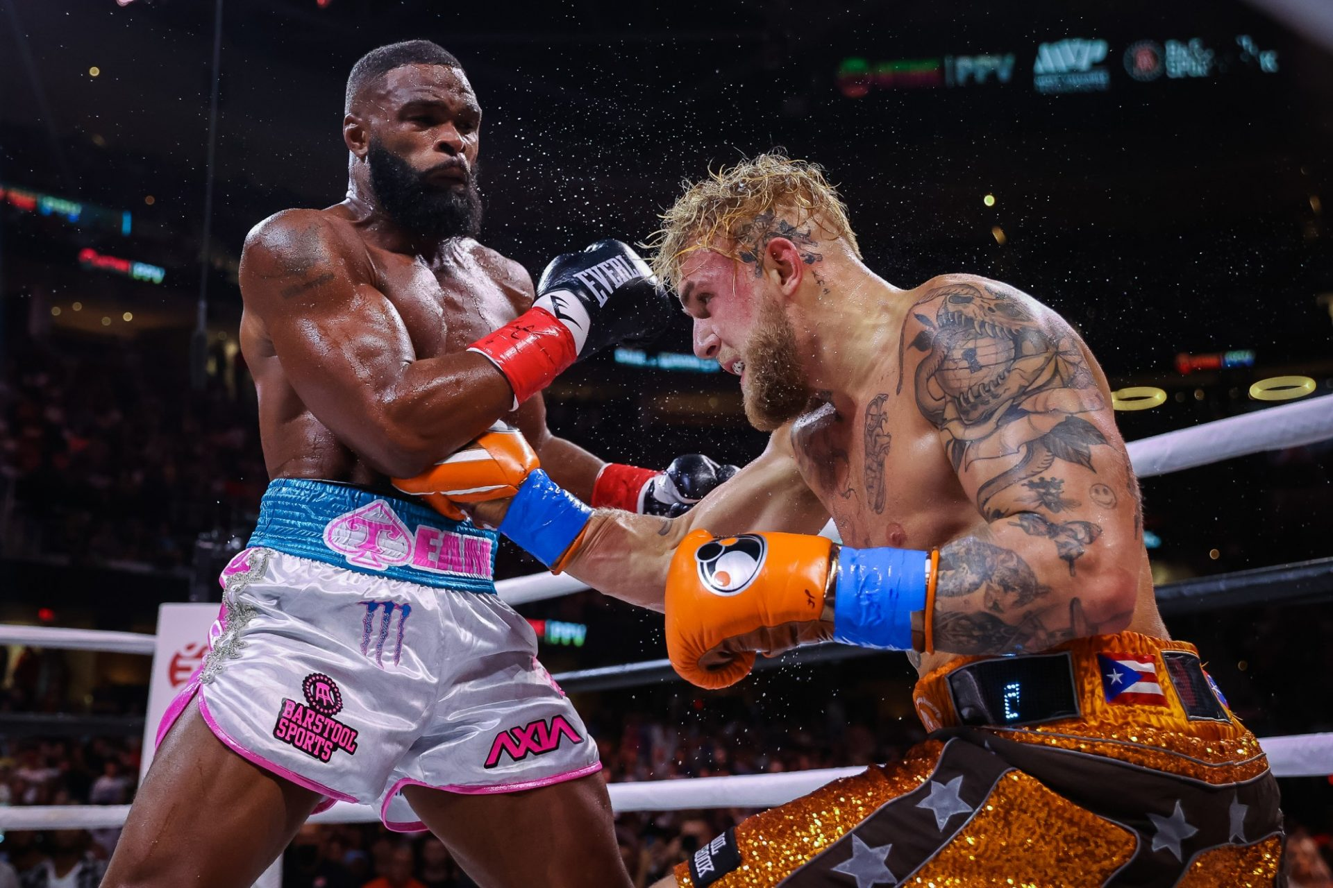 Jake Paul vs Tyron Woodley fight sold an estimated 480,000-500,000 pay-per-view buys - paul