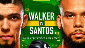 UFC Vegas 38: Santos vs Walker Betting Odds and Prediction